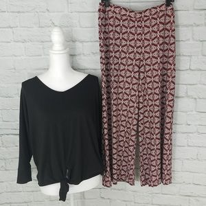 NWT Cato Wide Leg Pull On Pants